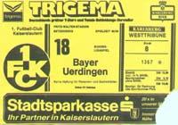 1. FC Kaiserslautern - Bayer Uerdingen