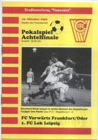 FC Vorwärts Frankfurt (Oder) - 1. FC Lok Leipzig