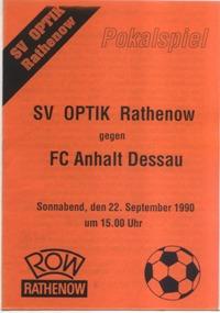 SV Optik Rathenow - FC Anhalt Dessau