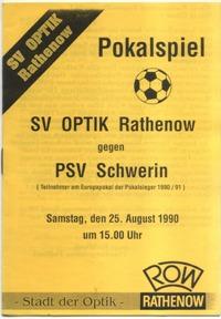SV Optik Rathenow - PSV Schwerin